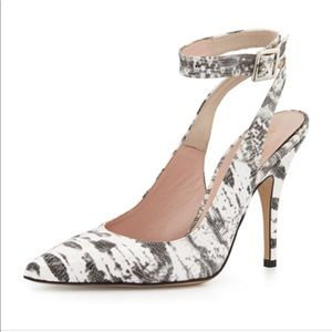 Kate space new luminous snake skin print heels